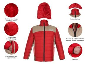Packable Duck Down Padded Coat Padded Puffer Jacket Winter Warm Quilted *Medium* $19.99