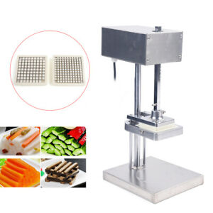 Commercial Electric Potato French Fries Vegetable Cutter Chopper 3 Blade Molds