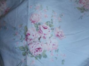 Simply Shabby Chic BELLA FLORAL ROSE Blue Pink STD Shams Cotton PAIR 2 NWOT