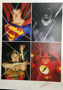 Justice League by Alex Ross Hand Signed Limited Edition Paper RARE NEW DC Comics $179.00
