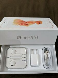 NEW: iPhone 6S Retail Box amp; NEW Accessories plug charger headphones manual OEM
