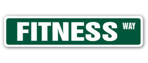 FITNESS Street Sign exercise workout gym athlete instructor