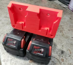 M18 Dual Battery Holder Wall Mount For Milwaukee 18V