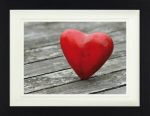 Hearts Love Heart On Floor Framed Collector Poster 16x12in #113766