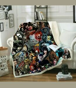 Cool Horror Movie 3D Print Sherpa Blanket Sofa Couch Quilt Cover Throw $49.99