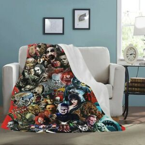 Cool Horror Movie 3D Print Sherpa Premium Blanket Sofa Couch Quilt Cover Throw $49.99