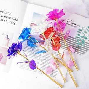 Mother#x27;s Day Valentine#x27;s Gift 24K Gold Foil Rose Flower Best Galaxy LED Hot M2N7 $2.15