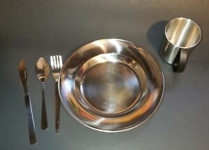 4 Setting Dish Set for Camping or Travel