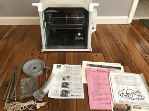 Ronco Showtime Rotisserie amp; BBQ Oven Roaster Model 4000T w Accessories Ribs