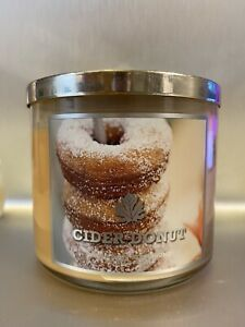 New Rare Bath And Body Works Cider Donut 3 Wick