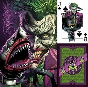 BATMAN: THREE JOKERS #1 3 Jokers NEW Premium JAWS SHARK variant wcard FABOK