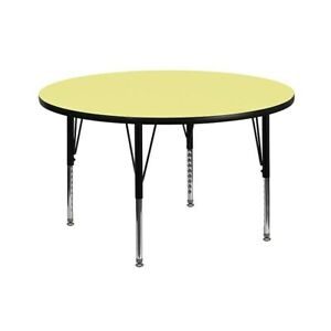 Flash Furniture Round Activity Table Yellow XUA42RNDYELTP