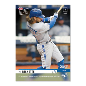 2019 TOPPS NOW Bo Bichette 8th Straight Game with a double Sets Club Record 646 $6.99