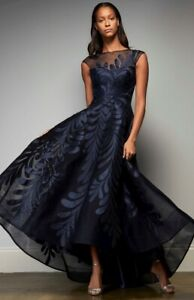Designer Evening Gown brand new Size 6 Park 108 M343 high low Navy