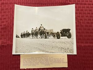 "1940 Original ACME News Photo ""The Caissons Go Rollin' Along"" 5 18 40"
