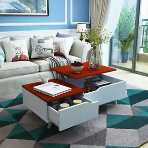 Lift Top Coffee Table w Hidden Storage Draweramp;Compartment Living Room Furniture $86.99