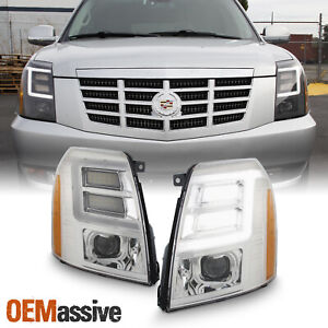 For 2007 2014 Cadillac Escalade LED DRL Projector Headlights Xenon HID Lights $488.99