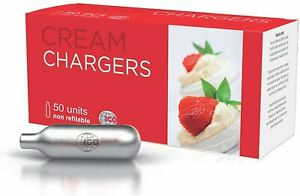 50 Whip Cream Chargers Whipped EU 8g N 8 gram EURO New ICO FAST FREE shipping