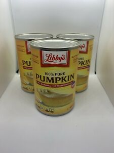 Libby's 100% Pure pumpkin 15 Oz Can 3 Pack All Natural No Preservatives 11 2021