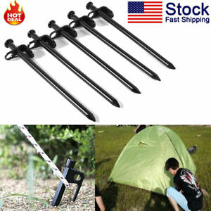 5pcs Pack 20CM Tent Pegs Stakes Nail Canopy Camping Heavy Duty Steel Outdoor US