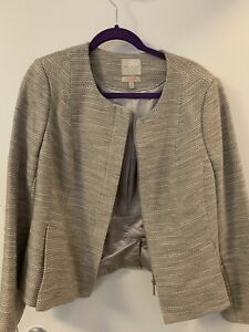 The Limited Scandal Collection Tweed Style Zip Up Crop Blazer Size XL NWOT