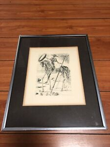 Original Salvador Dali Etching Don Quixote $200.00