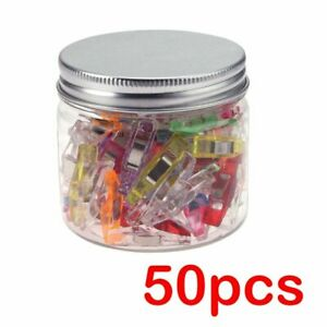 Plastic Mini Clips 50Pcs Wonder Sewing Holder Clamps Knitting Garment Clip $8.53