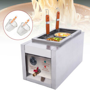 2 Holes Noodle Cooking Machine Electric Pasta Cooker w 2 Basket 2KW Commercial
