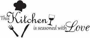 This Kitchen Is Seasoned with Love Vinyl Wall Decal Stickers Kitchen Home Decor