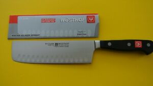 WUSTHOF new 7 inch nakiri KNIFE new PEtec #4193 17cm solingen Germany