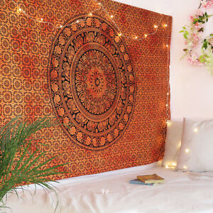 Indian Mandala Twin Hippie Bedspread Wall Hanging Tapestry Home Decor Tapestries $14.99