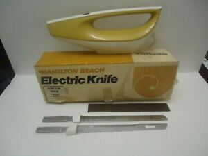 Tested Vintage Hamilton Beach Scovill Electric Knife Model 275G Gold color