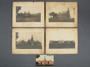4 Antique Photographs Illinois AFMC Asylum Lincoln State School and Colony IAFMC $87.99