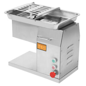 110V Stainless Steel Commercial Meat Slicer Cutting Machine Cutter 250kg hour