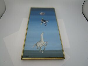 Retro Origin Oil on Board Salvador Dali Style Surrealism Italian Artist Terziano $200.00