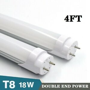 10X DOUBLE END POWER T8 T10 T12 18W 4FT Fluorescent Bulb Replacement MILKY LENS