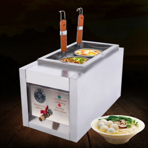 2000W 8L Electric Pasta Cooker Noodles Maker Machine 2 Basket Stainless Steel