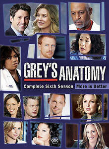 Grey#x27;s Anatomy: The Complete Sixth Season DVD Kevin McKidd Chyler Leigh Eric