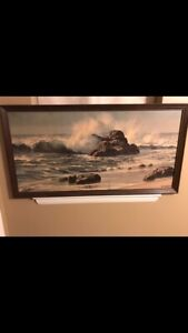 James Fetherolf Print in frame Pacific breakers or seascape painting. $100.00