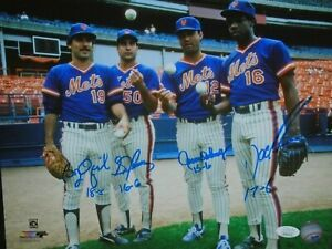 1986 New Mets Autograph 16x20 Photo W JSA Sid Doc Darling and Ojeda