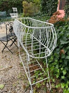 Vintage Wrought Iron Victorian Garden Wire planter $225.00