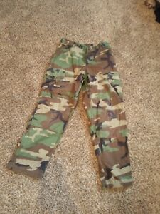 Army Men's Pants GreenMilitary Combat Camouflage Pants Size Extra Small 27x31