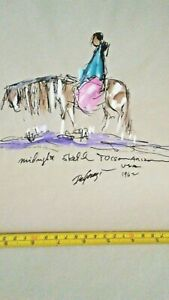 TED DEGRAZIA ORIGINAL PAINTING amp; 20 LARGE QUALITY PRINTS INSTANT COLLECTION $2800.00