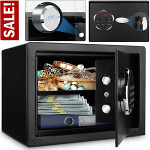 Digital Home Jewelry Cash Security Safe Box Fireproof Electronic Steel Black $84.00