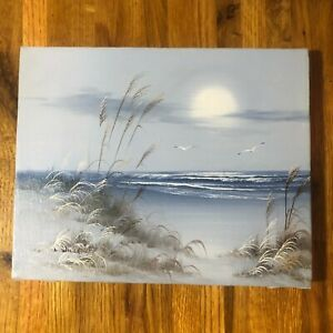 VINTAGE OIL PAINTING SEASCAPE SIGNED BY THE ARTIST L. WILLARD 8quot; x 10quot; $59.95