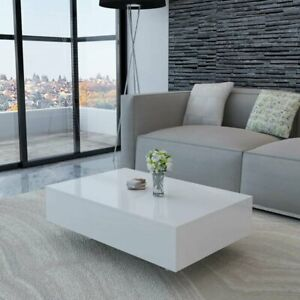 Solid Coffee Table Modern Furniture Living Room Home High Gloss Elegant Wood $350.99