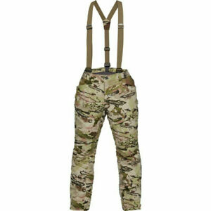 Under Armour Timber Realtree Camo Hunting Pants Bibs Overalls 1316736 991 XL NEW