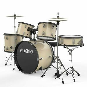 Full Size Drum Set 5 Pieces 22quot;Adult w Stool Cymbal AdjustableThrone Stick Pedal $308.99