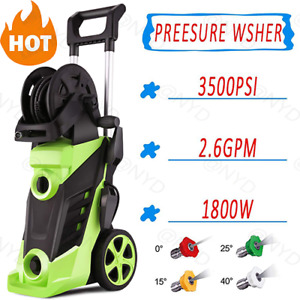 3500PSI In Outdoor Electric Pressure Washer Cleaner Machine Hose Gun 4 Nozzles $111.99