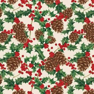The Gift Wrap Company 8#x27; Gift Wrap Roll Pinecone Flutter 76 4335 $19.00